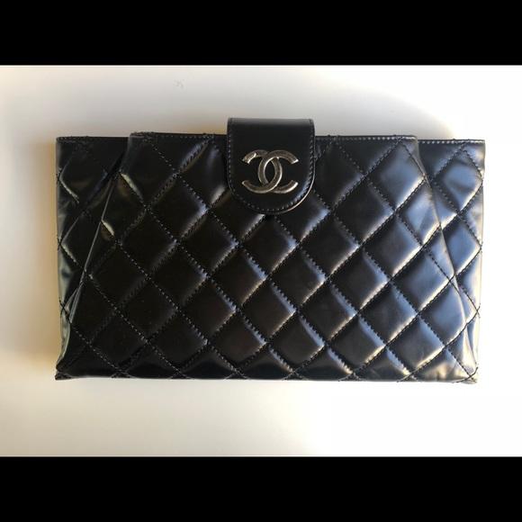92e56e5f9885 CHANEL Bags | Envelope Clutch Black Calfskin | Poshmark